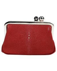 Chanel Red Rochen Clutches