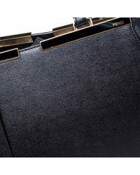 Fendi Black 3jours Leder Shopper