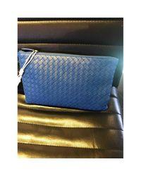 Bottega Veneta Leder Kleinlederwaren in Blue für Herren