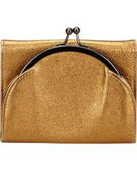 Miu Miu Metallic Gold Leather