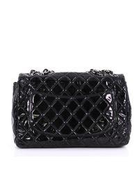Borsa a mano in vernice nero Timeless/Classique di Chanel in Black