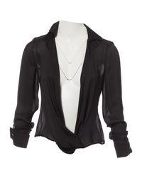 Versace Black Silk Top