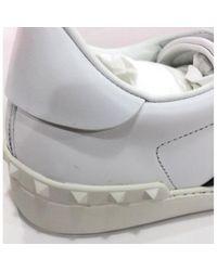 Valentino Leder Niedrige Turnschuhe in White für Herren