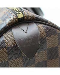 Borsa a mano in tela marrone Speedy di Louis Vuitton in Multicolor
