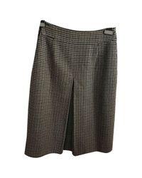 Burberry Green Wool Mid-length Skirt