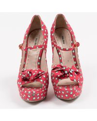 Miu Miu \n Red Cloth Heels