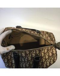 Dior Brown Leinen Handtaschen