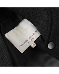 Giacca in lana nero di Opening Ceremony in Black