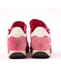 Baskets en Suede Rose Moncler en coloris Pink