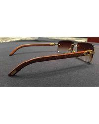 Cartier Metallic Sunglasses