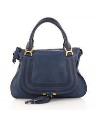 Chloé - Blue Marcie Leather Handbag - Lyst