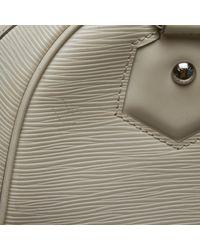 Louis Vuitton Montaigne White Leather Handbag