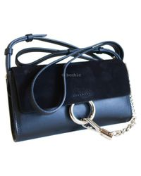 Chloé - Black Pre-owned Faye Leather Clutch Bag - Lyst