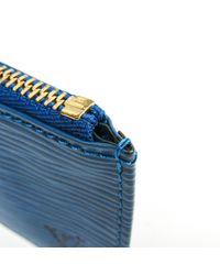 Marroquinería en cuero azul Louis Vuitton de color Blue