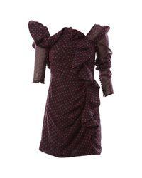 Self-Portrait Purple Mini Kleid