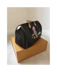 Louis Vuitton Speedy Brown Cloth Handbag