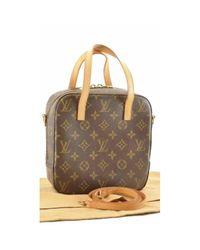 Borsa a mano in tela marrone Spontini di Louis Vuitton in Brown