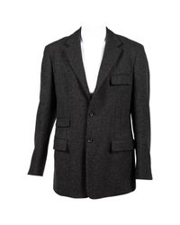 Jil Sander Gray Wool Jacket for men