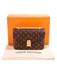 Louis Vuitton Brown Metis Leinen Handtaschen