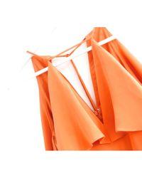 Robe en Soie Orange Cushnie et Ochs