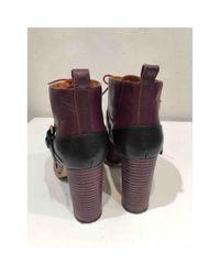 Chloé Multicolor Leder Stiefeletten
