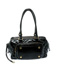 Marc By Marc Jacobs Black Lackleder Handtaschen