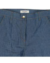 Valentino Blue Breite Jeans