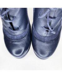 Scarpe derby in scamosciato marina \N di Fendi in Blue