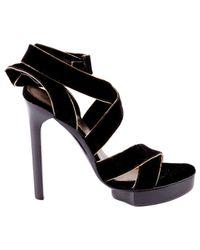 Lanvin Black Velvet High Heel