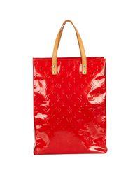 Louis Vuitton Red Lackleder Handtaschen