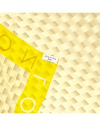 Louis Vuitton Yellow Silk Silk Handkerchief