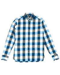 Chemises \N en Coton Bleu Lanvin pour homme en coloris Blue