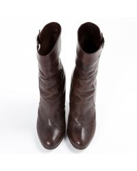 Marni Brown Leather Ankle Boots