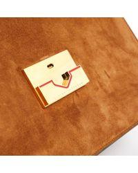 Bolsa de mano en ante marrón \N Victoria Beckham de color Brown