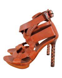 Bottega Veneta \n Brown Leather Heels