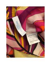 Emilio Pucci Red Multicolour Silk Top