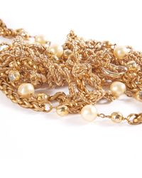 Chanel Metallic Gold Metal Long Necklace