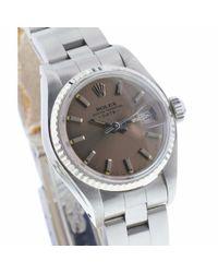 Orologio in acciaio antracite Lady DateJust 26mm di Rolex in Multicolor