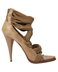 Escarpins en Cuir Beige Givenchy en coloris Brown