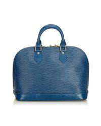 Borse a mano Alma Blu di Louis Vuitton in Blue