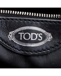 Tod's Black Leder Shopper