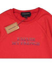 Maglioni. Gilet in cotone rosso di Vanessa Seward in Red