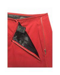 Jean Paul Gaultier Red Cotton Skirt