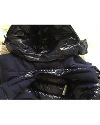 Moncler Blue Classic Wolle Anorak