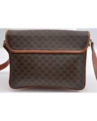 Céline Brown Leinen Cross Body Tashe