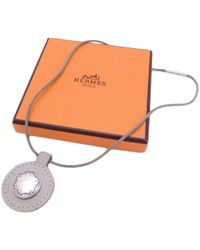 Collar en plata Hermès de color Multicolor