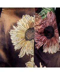 Robe en Soie Violet Miu Miu en coloris Multicolor