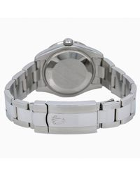 Reloj en acero negro Datejust 31mm Rolex de color Black