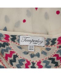 Temperley London White Seide Tunika