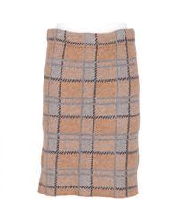 Jupe en laine Marni en coloris Natural